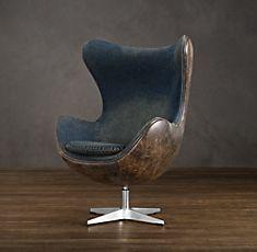 RESTORATION HARDWARE leather Copenhagen Chair