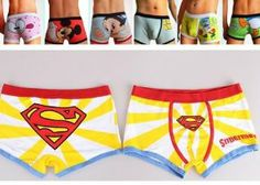 """Sexy Man's Cartoon Yellow Superman Boxers Briefs Trunks Underwear Boyshorts Size XL by kukubay. $8.50. Superman. Underwear. Briefs Trunks. boyshorts. Man's  boxers. So cute boyshorts for you, the best price and quality. Elastic, comfortable, and not easily to be deformed. 1. 100% brand new with high quality. 2. Material: 93% Cotton+ 7% Spandex. 3. Color: As picture shows. 4. Style: Superman. 5. Waist (cm): 77-87cm(  30.5""""-34.5"""")"""
