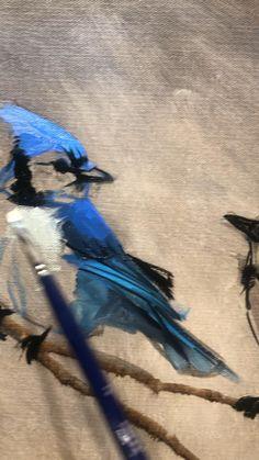 Bird Painting Acrylic, Bird Canvas Paintings, Watercolor Paintings, Bird Paintings On Canvas, Bird Artwork, Animal Paintings, Canvas Painting Tutorials, Diy Canvas Art, Email List