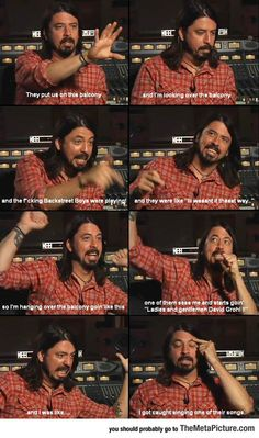 Dave Grohl On The Backstreet Boys