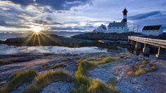 Tranoy Lighthouse, Hamaroy, Norway