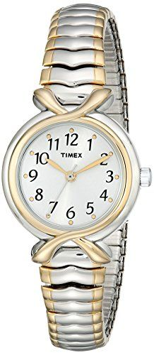 Timex Womens T21854 Elevated Classics TwoTone ExpansionBand Watch *** You can find more details by visiting the image link.