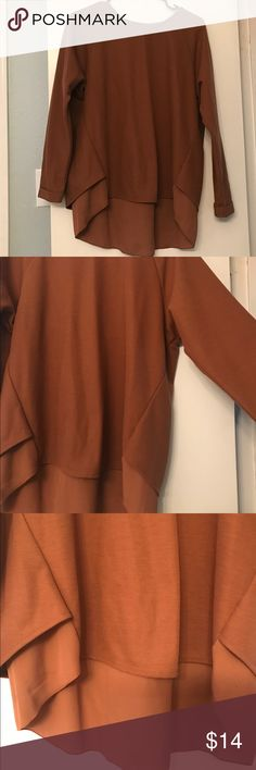 Camel Long Sleeve from Japan Rare and unique! Bought this top in Japan. Worn twice! Really cute detailing with a small slit in the back. Tops Blouses