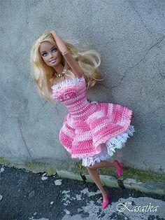 Ravelry: Gentle Hydrangea Barbie pattern by Oksana Lifenko...free ravelry dowload
