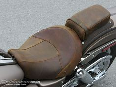 Harley brown leather seat http://images.motorcycle-usa.com/PhotoGallerys/CVO-Fat-Bob-distressed-leat.jpg