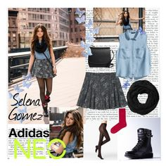 """""""Selena Gomez """"Adidas NEO"""""""" by smery09 ❤ liked on Polyvore featuring Fogal, adidas NEO, adidas, Calvin Klein, H&M, Subtle Luxury and Brooks Brothers"""