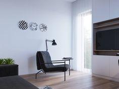 Sedia con linee minimaliste, semplice e funzionale