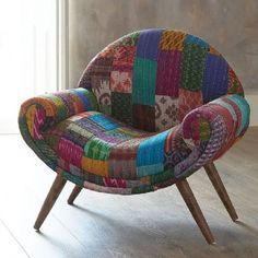 Fifties style vintage sari chair