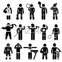Sportswear Sports Attire Clothing Apparel Player Athlete Wear Shirt Stick Figure Pictogram Icon photo