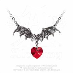 Alchemy Gothic Fledermaus Kette - Vampire Loveheart | VOODOOMANIACS