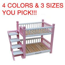 Charming Wooden Pet Dog Cat Double Deck Bunk Bed Hut Cage Kennel Doghouse With  Stairs NEW Ebay