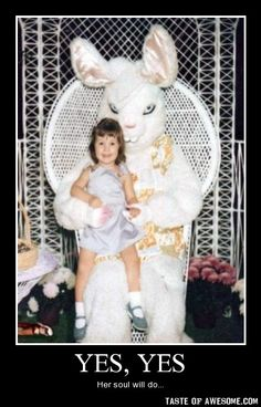 Funny pictures about Creepy Easter Bunny. Oh, and cool pics about Creepy Easter Bunny. Also, Creepy Easter Bunny. Funny Shit, The Funny, Funny Memes, Hilarious, Funny Stuff, Scary Funny, Funny Ads, Scary Stuff, Funny Things