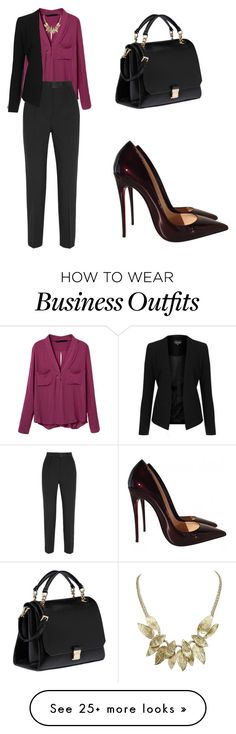 """Work Wear"" by tania-alves on Polyvore featuring Dolce&Gabbana, Topshop, Miu Miu and Christian Louboutin"