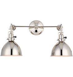 guest bath sconce -- Grandview Double Sconce Industrial 2-Light Adjustable Wall Sconce