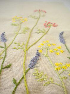 Harujion Design: Sneak peek / Embroidery Wild flowers