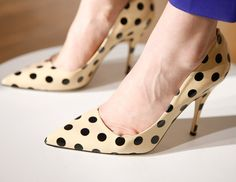 Love polka dots and love shoes. =)