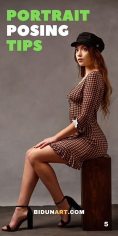 Posing guide for women portrait photography. Women fashion styling and posing ideas. How to pose confident women in stud Studio Portrait Photography, Photography Poses Women, Portrait Poses, Glamour Photography, Female Portrait, Photography Lighting, Digital Photography, Fashion Model Poses, Photoshoot Fashion