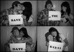 not save the dates per say, but you guys and maybe even the wedding party take some shots before to show everyone else