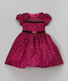 Fuchsia Rose Belted Dress - Infant, Toddler & Girls