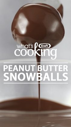 As an edible gift or a sweet little dessert for holiday entertaining, these no-bake chocolate-covered peanut butter balls do it all. What's your favourite cookie ball recipe? - what's cooking - Kraft Canada - Christmas Sweets, Christmas Cooking, Christmas Candy, No Bake Christmas Cookies, Christmas Chocolates, Chocolate Christmas Cookies, Christmas Pretzels, Christmas Entertaining, Christmas Recipes