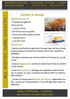 Dessert - Mousse de bananes - Tupperware