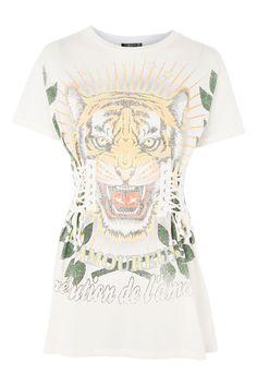 T-shirt style corset avec motif tigre graphique