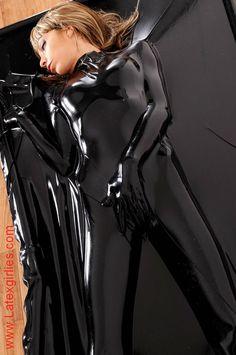 Bed woman vacuum latex