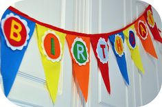 DIY felt birthday banner