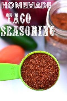 Homemade Taco Seasoning on MyRecipeMagic.com