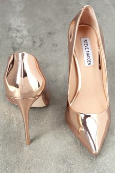 e68532397cbe Daisie Rose Gold Patent Pumps