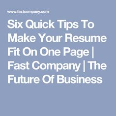 "Make A Quick Resume Pleasing A Recruiter Shares What It Means To Have A ""Webfriendly"" Resume ."