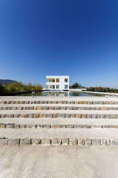 Villa Cheshm Cheran, Minudasht, Iran, by ZAV Architects Dezeen, Architect Design, Terrace, Villa, Landscape, Beach, Iranian, Water, House
