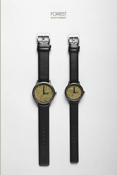 BLACK FOREST WATCH : Forrest Own a small piece of nature on your wrist with this gorgeous Black Forest watch made with genuine cow leather strap.  Powered by quality Japanese Quartz movement, this sophisticated yet minimalistic watch is bound to turn heads no matter the occasion.  https://naiise.com/collections/watches/products/black-forest?variant=3666424709