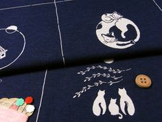 Japanese fabrics, cotton, animals & birds