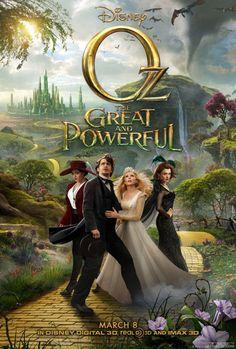 Oz The Great and Powerful official Movie Poster / Muhteşem ve Kudretli Oz 20.3.2013'te izledik