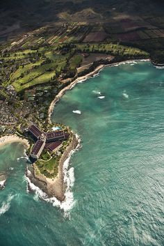 Hawaii, Turtle Bay!  Such a beautiful place to stay.  The waves are incredible.  They look like turquoise blue clear crystal