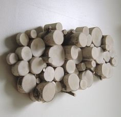 White birch organic wall art