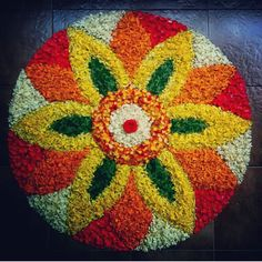 Rangoli Designs Flower, Small Rangoli Design, Colorful Rangoli Designs, Rangoli Ideas, Rangoli Designs Diwali, Rangoli Designs Images, Diwali Rangoli, Flower Rangoli, Beautiful Rangoli Designs