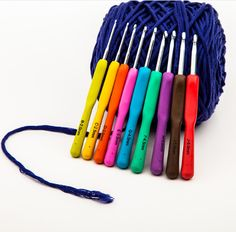 $15.95 Colorful Soft Handle 9PCS/SET Aluminum Crochet Hook