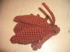 I will probably delete this later, but... come on, a crochet cockroach. Now I think I've seen everything (crochet).