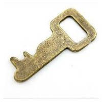 Antique Bronze Plated Steampunk Victorian Vintage Flat Key with Square Hole