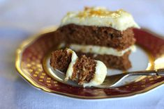 Carrot cake recipe with maple and orange cream cheese icing hilahcooking.com