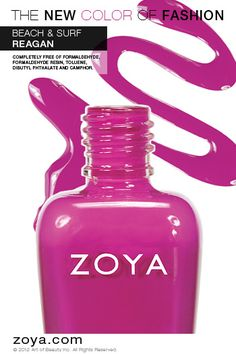 RE-PIN ME! Zoya Nail Polish in Reagan from the Beach Collection http://www.zoya.com/content/38/item/Zoya/Zoya-Nail-Polish-Reagan-ZP614-Pink.html?O=PN120521MN00135