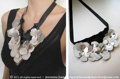faux metal bib necklace  http://paperplateandplane.wordpress.com/2011/01/21/faux-metal-bib-necklace/