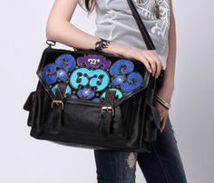 Large Embroidered Satchel
