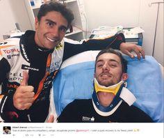 Dois pilotos são atropelados em cena assustadora na Moto3 na Austrália #sportv
