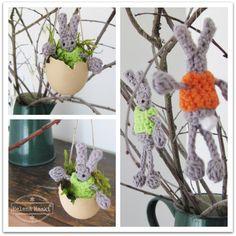 Free pattern crochet mini easter bunnies by Helena Haakt (Mini paashaasjes haken)