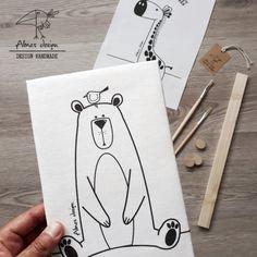Nursery Canvas, Bear Nursery, Nursery Paintings, Nursery Art, Animal Nursery, Animal Drawings, Cute Drawings, Moose Quilt, Bear Drawing