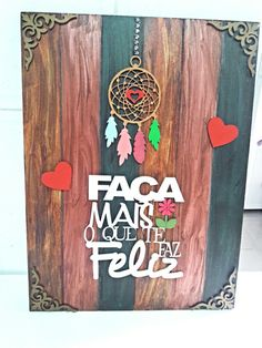 Placa decorativa por Marisa Artes