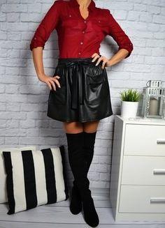 Kup mój przedmiot na #vintedpl http://www.vinted.pl/damska-odziez/spodnice/16417628-spodniczka-woskowana-ala-skora